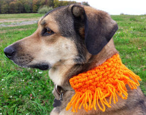 Orange Dog Scarf Crochet Pattern