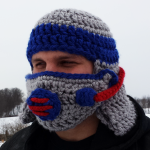 Gas Mask Helmet Crochet Pattern
